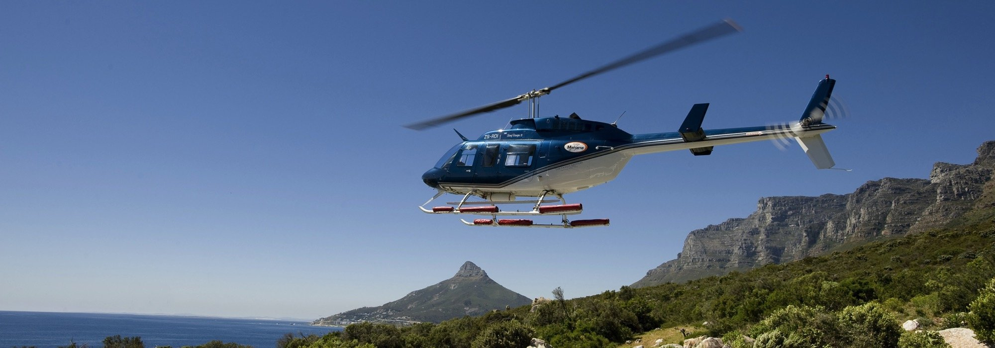 Helicopter ride in Cape Town