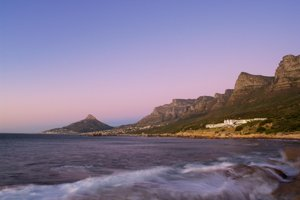 Twelve Apostles Hotel and Mountain Range