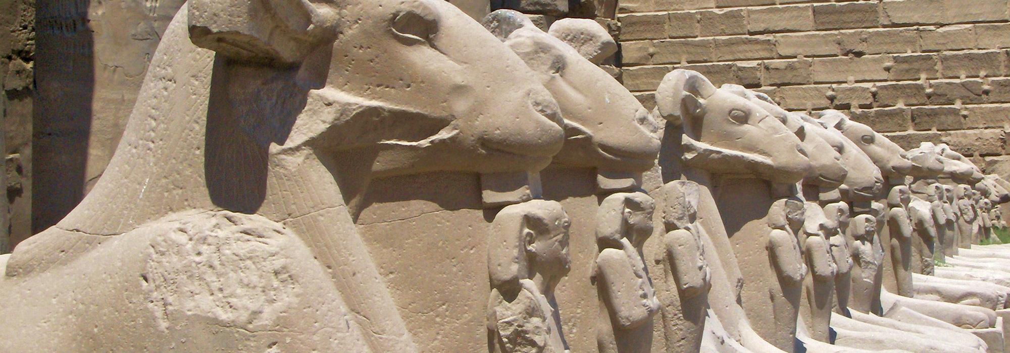 Goat Sphinxes at Karnak Temple