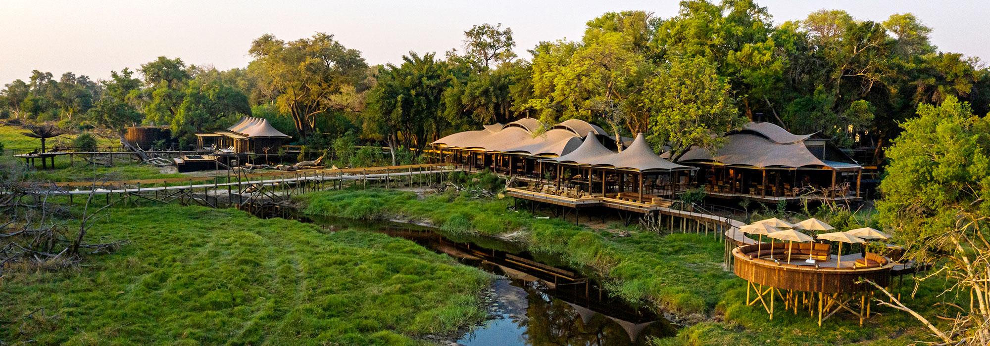 Xigera Safari Lodge from Above