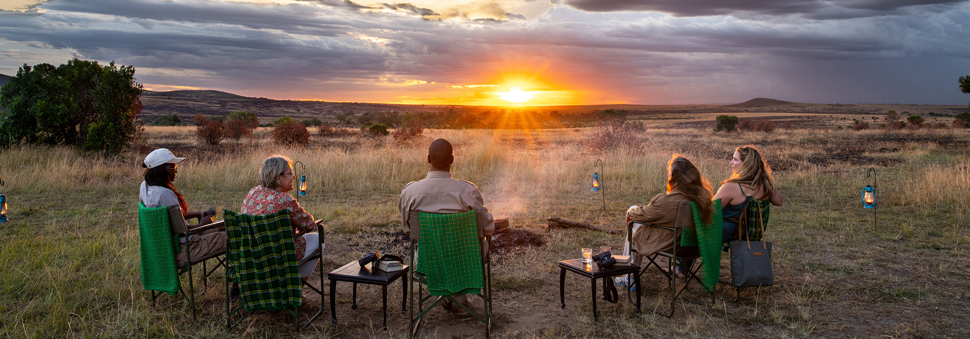 Sundowners at Sand River