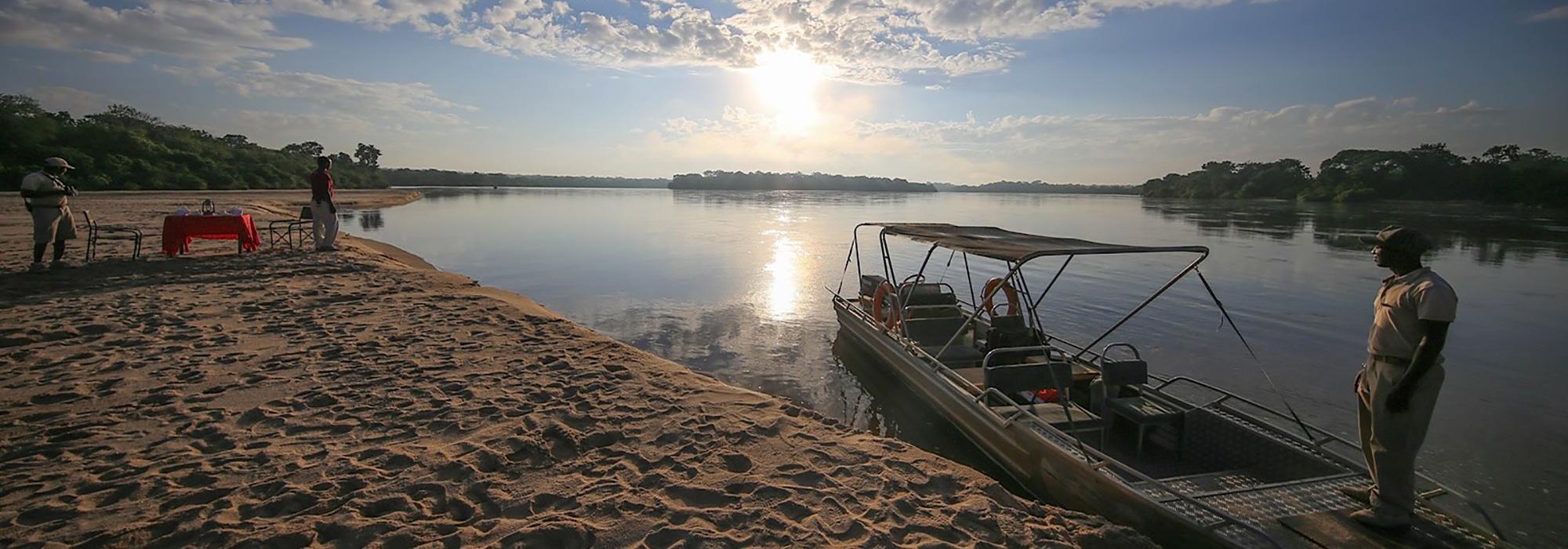 Boat ride in Selous