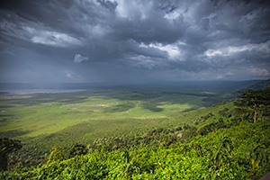 View of Ngorongoro Crater from The Manor