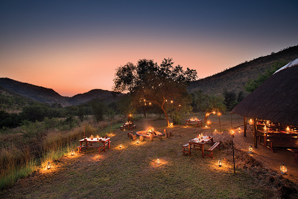 Outdoor Dining in Spacious Surroundings at Bakubung