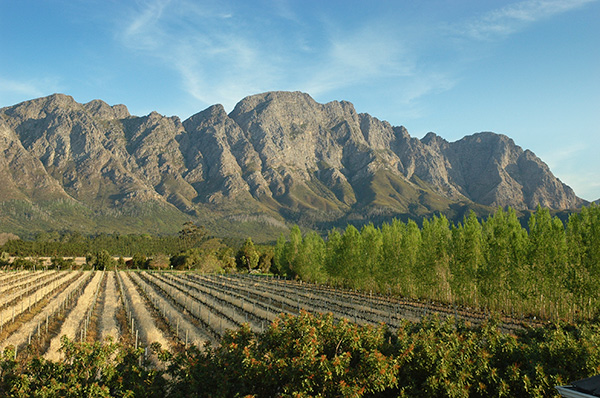 The scenic Franschhoek Valley and Cape Winelands