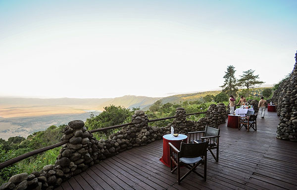 Views of the Crater from Ngorongoro Serena Lodge
