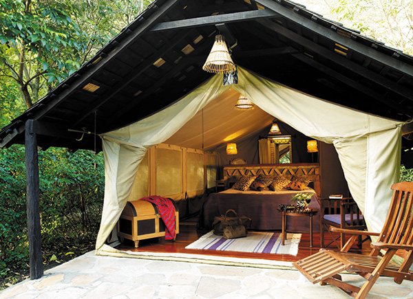 A Classic and Comfortable Safari Tent at Mara Camp
