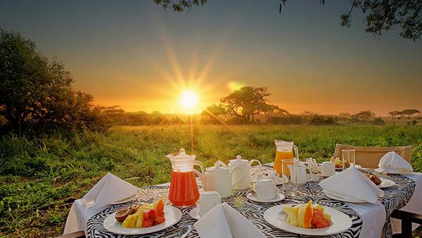 Breakfast at Tarangire Sopa Lodge