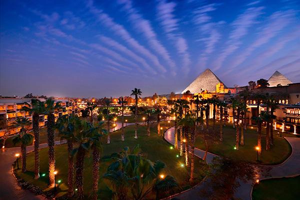 Night view of Pyramids