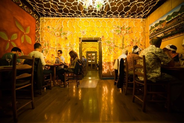 The dining room at the Africa Cafe