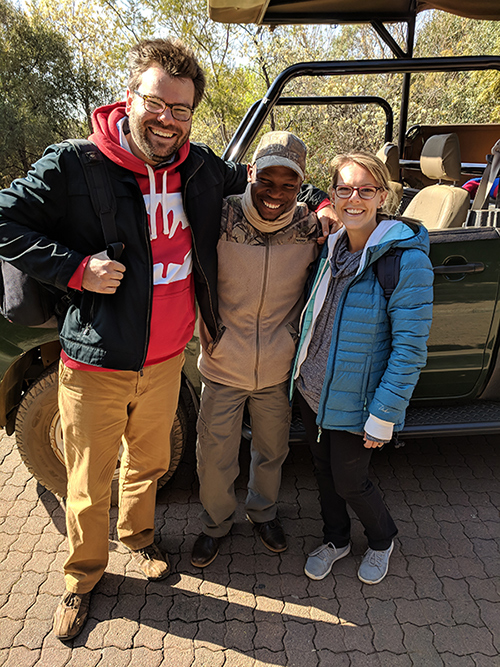 Amanda and Pat on safari in South Africa