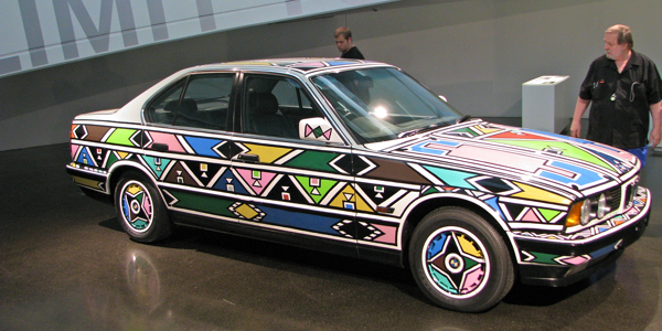 Ndebele Decorated Car