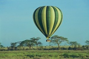 Hot Air Balloon safari over Serengeti
