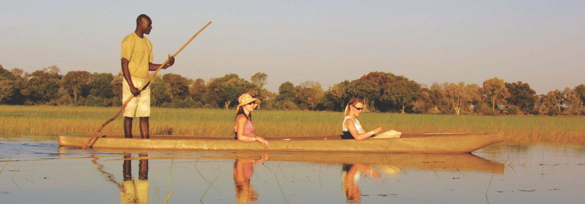 A Mokoro ride in Botswana