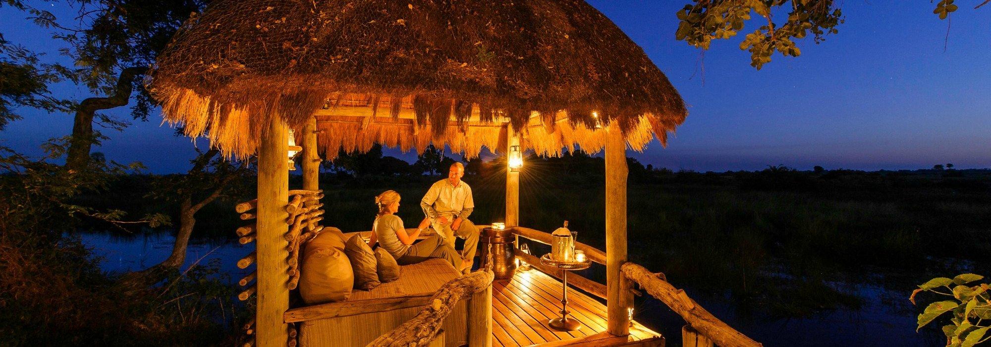 On safari in Botswana a Mombo Camp