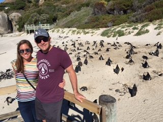 Halle and Scott with Penguins