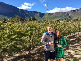 Halle and Scott in the Cape Winelands