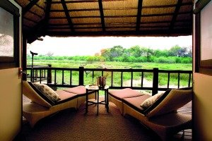 View from the Khwai River Lodge Private Deck