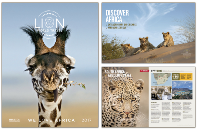 Lion World Travel Brochure Cover 2017