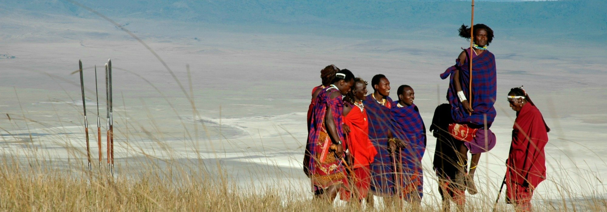 Maasai at Ngorongoro Crater