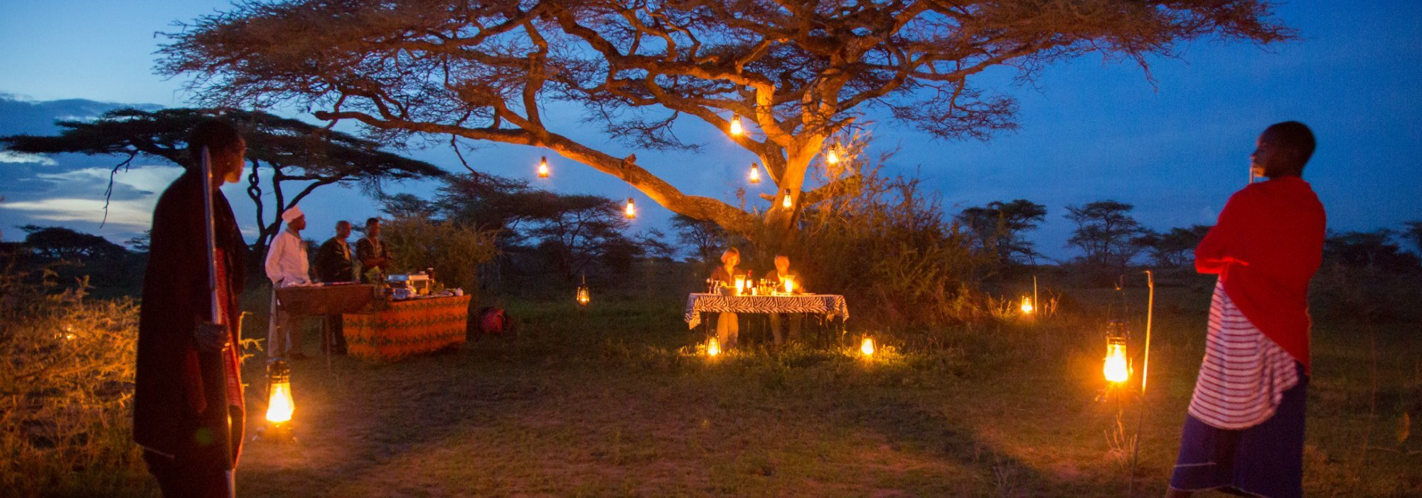 Lake Ndutu Luxury Tented Lodge dinner