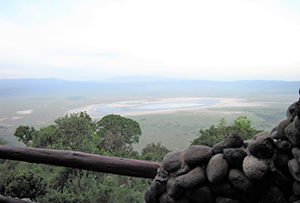 Aerial view and crater view from Ngorongoro Serena Lodge