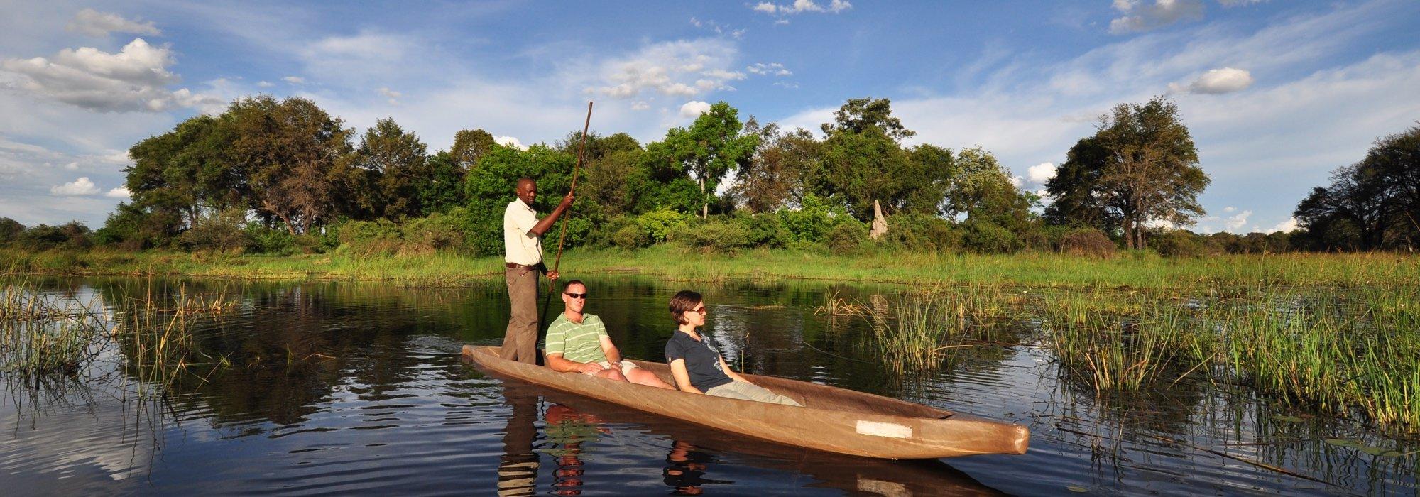 Mokoro excursion in Botswana