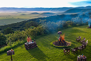 Sundowners at Ngorongoro