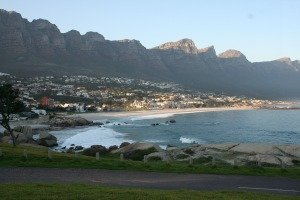 Twelve Apostles Mountains in Cape Town