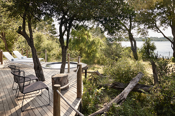 Victoria Falls River Lodge Luxury Tented Deck and Pool