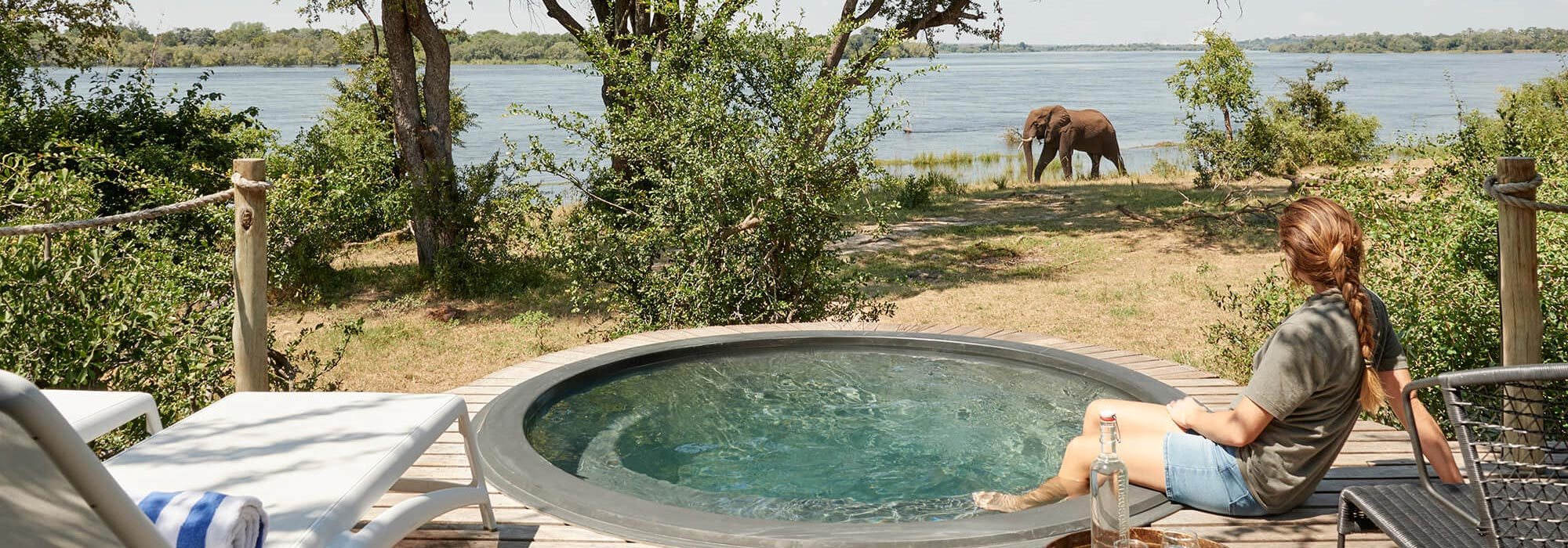 Victoria Falls River Lodge Plunge Pool