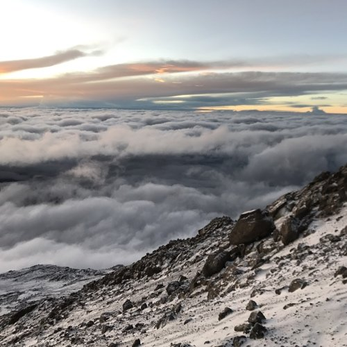 The view from Mt. Kilimanjaro