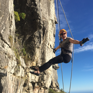 Allison Capra Rock Climbing in South Africa