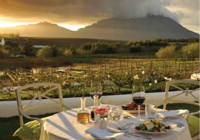 Dinner at the Cape Winelands