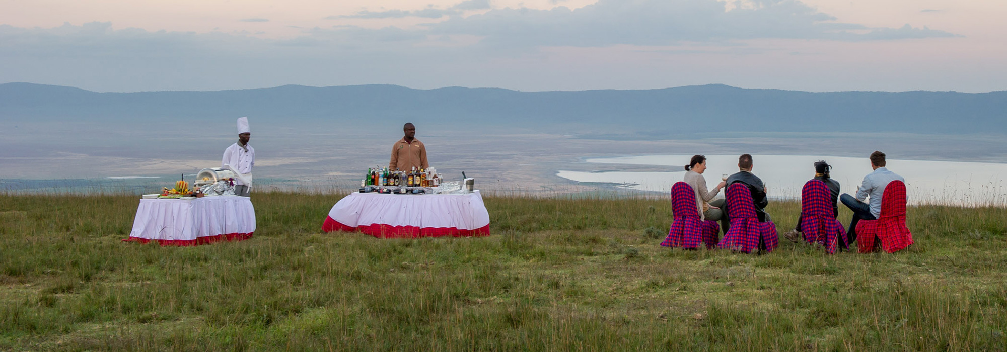 Sundowners at Ngorongoro Crater