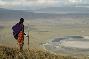 Maasai at the Crater