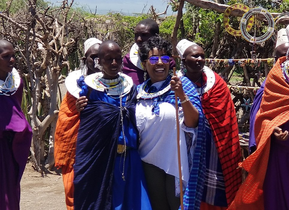 Jean Kadenhe with Maasai women